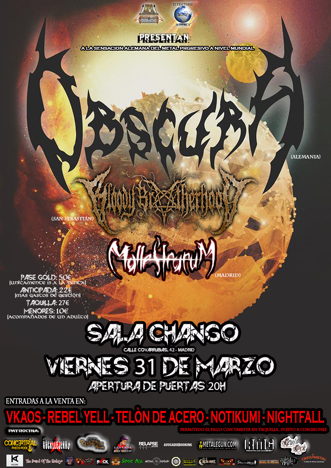 OBSCURA en Madrid