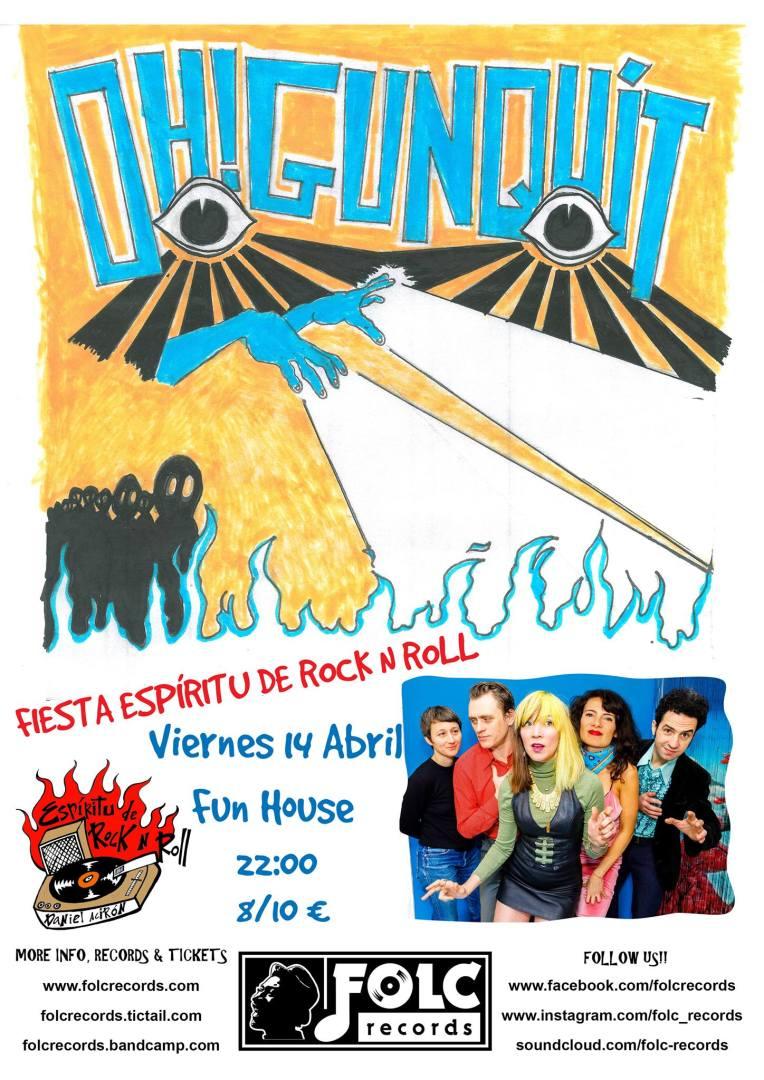 Fiesta Espíritu de Rock N Roll con Oh Gunquit!