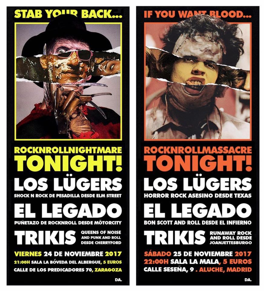 Los Lügers conciertos noviembre
